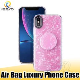 Phone holders for girls online shopping - For iPhone XS MAX XR X Plus Fashion Design Back Case with Portable Airbag Holder Phone Cover for Girl izeso