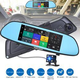 Dvr Camera Zoom Australia - 2018 High Quality HD 1080P 7'' Car DVR Video Recorder G-sensor android system Dash Cam Rearview Mirror Camera DVR Free Shipping