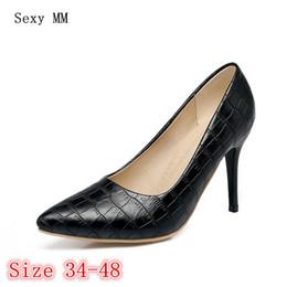 da44621630 Dress High Heels Women Pumps High Heel Shoes Stiletto Woman Party Wedding  Shoes Kitten Heels Plus Size 34 - 40 41 42 43 44 45 46 47 48