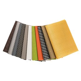 $enCountryForm.capitalKeyWord UK - 45x30cm modern woven coaster PVC placemat square solid non-slip insulation coaster large placemat set coffee table mat