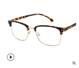 Wholesale 2019 New Half frame Eyeglass Frame Art Man Retro Board Large Frame Eyes Frame Male Round Face Personality Myopia Glasses Tide