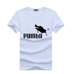 $enCountryForm.capitalKeyWord Australia - 2019 funny tee cute t shirts homme Pumba men short sleeves cotton tops cool t shirt summer jersey costume Fashion shirt