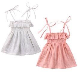 Discount infant baby sundress - Toddler Infant Kids Baby Girls Summer Bathing Suit Bikini Beach Cover Ups Dress Princess Party Wedding Tutu Sundress Bea