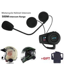 Motorcycle Helmet 500M Walkie Talkie Headset Helmet Wireless Headset Headphones Walkie Talkie System on Sale