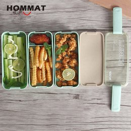 $enCountryForm.capitalKeyWord NZ - 2 3 Layer Japanese Slim Bento Lunch Box Food Container Bento Lunchbox with Carry Lunch Bag Microwave Safe BPA Free Green Pink C18112301