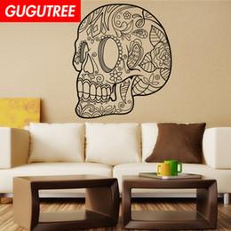 $enCountryForm.capitalKeyWord Australia - Decorate Home skull cartoon art wall sticker decoration Decals mural painting Removable Decor Wallpaper G-1938