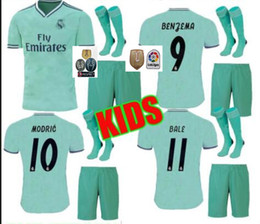 ab3abdd57 Madrid jersey 16 online shopping - kids Real madrid ISCO Soccer jersey kits  THIRD GREEN BENZEMA
