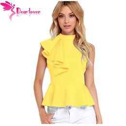 $enCountryForm.capitalKeyWord NZ - Dear Lover Office Ladies Summer Fashion Clubwear Asymmetric Ruffle Side Peplum Tops Women Sleeveless Tanks Vest Blusas Lc25845 Y19042801
