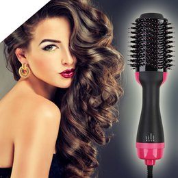 ElEctric hot air brushEs online shopping - High quality One Step Hair Dryer Brush Volumizer Ionic Blow Dryer Brush Electric Hot Air Brush In Hair Curler Iron Hair Tool