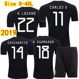 a9caf8737fd Top quality Men Mexico Soccer Jerseys Kit 2019 America s Cup CHICHARITO  GUARDADO H.LOZANO H.HERRERA M.LAYUN Football Shirts Plus Size S-4XL