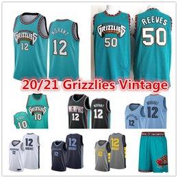 2021 Ja 12 Morant Men's Vintage MemphisGrizzliesVancouver Jersey 10 Mike Bibby Abdur-Rahim 50 Reeves Shorts Basketball Jerseys on Sale