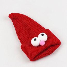 Wholesale Children Wizard Hats Australia - Winter Children Beanie Hat Kids Cute Wizard Caps Soft Warm Knitted Beanies Kinderen Boy Girl Warm Bonnet Enfant Mutsen