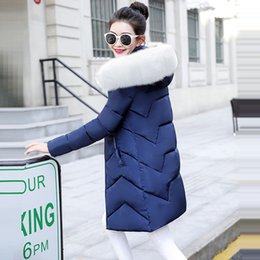 False collar cotton online shopping - Female Warm Winter Jacket Fashion Women Winter coat Hooded False hair collar Down Cotton Coat Large size S XL Female