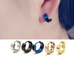39781d520 Mens Earrings Black Stud Australia - Stud Earrings Wholesale Mens Cool  Stainless Steel Ear Studs Hoop