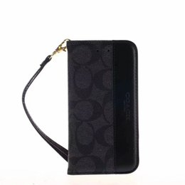 phone wallet case for girls NZ - Designer Wallet Phone Case for Apple iPhone XS Max XR 8 7 6 Plus with Card Holder Hand Strap Flip Bumper for Women Girls