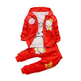 $enCountryForm.capitalKeyWord UK - 2019 Spring Autumn Baby Boys Girls Cartoon Clothes Fashion Children Hooded Jacket T-shirt Pants 3 Pieces Sets Infant Tracksuits