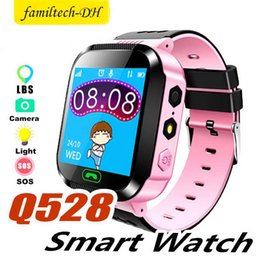 pink kids smart watch Australia - Cute Sport Q528 Kids LBS Tracker Watch Kids Smart Watch with Flash Light Touchscreen SOS Call Location Finder for kid Child PK GPS Q50