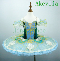 blue green tutu Australia - Professional ballet tutu Green Velvet for women girls swan lake Pancake platter tutu blue for ballerina kids adult The Talisman