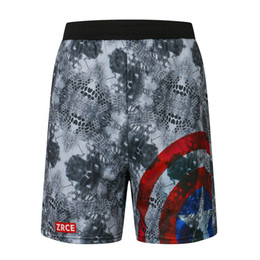 $enCountryForm.capitalKeyWord UK - Captain America 3d Printer Men Shorts Plus Size Breathable Beach Brand Clothing Loose Homme Shorts Quick Qry Polyester Trousers MX190718
