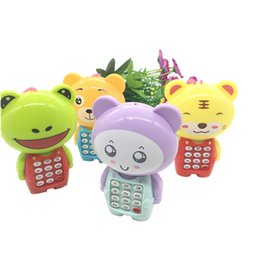 Cartoon Telephones Australia - Novelty Cartoon Model Kids Phone Toy Children Telephone Talking Toys Parenting Game Electric Mobile Props Christmas Gift