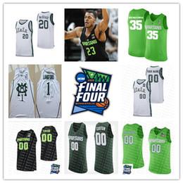 ddb7361b2d9 Custom Michigan State Spartans Basketball 1 Joshua Langford 5 Cassius  Winston 20 Matt McQuaid Jerseys Green Sewn 2019 Final Four MSU Jersey