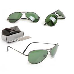 Glasses Sun Protection Australia - 10PCS New Brand Designer Sunglasses Glass lens Unisex UV400 protection sun glasses Classic Man sunglasses 8015 Womans glasses with cases box