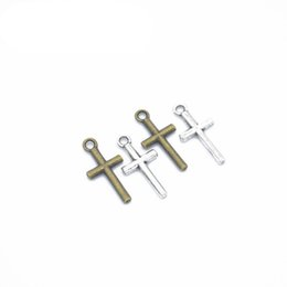 $enCountryForm.capitalKeyWord Australia - 2019 Cross Alloy Pendants Charms for Jewelry Making DIY Bracelet Necklace jewelry accessory 18*9mm Retro small pendant