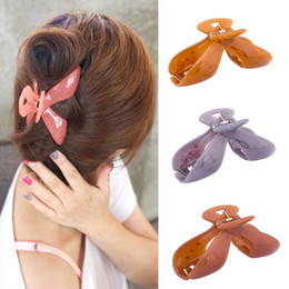 Large Girls Hair Clips Australia - 1 PC Women Hair Claw Crab Clamp Girls Plastic Large Ponytail Clip Pure Color Hairpin Clamp Headwear Hair Accessories New