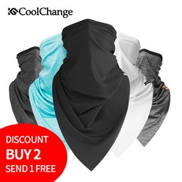 bike riding scarves NZ - CoolChange Summer Outdoor Sports Scarf Cycling Bandana Bicycle Equipment Headwear Ride Neck Mask Bike Triangle Headband Scarf