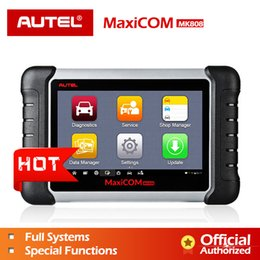 Wholesale Autel MaxiCOM MK808 MX808 Automobile Diagnostic Tool All System Key Programming OBD2 II Scanner ABS SRS as MD802 MaxiCheck Pro