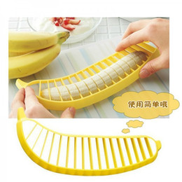 Banana Cutter Slicer Chopper Australia - Banana Slicer Chopper Cutter Peeler Fruit Salad Sundaes Cereal Easy Kitchen Tools Gadget Helper DHL free shipping
