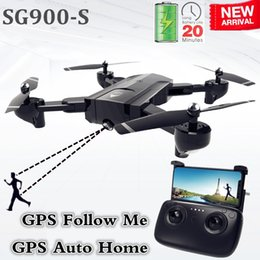 $enCountryForm.capitalKeyWord NZ - Sg900-s Sg900 Gps Drone With Camera Hd 1080p Professional Fpv Wifi Drones Auto Return Dron Rc Quadcopter Helicopter Vs F11 X5 C19041901