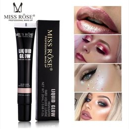 Discount highlighter makeup shades MISS ROSE Iluminador Highlighter Shading Makeup Party Liquid Highlighter Face Shimmer Body Glow Highlighter Liquid Found