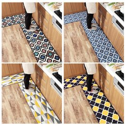 $enCountryForm.capitalKeyWord Australia - Waterproof Oilproof Anti-slip Kitchen Mat Diamond Plaid Long Bath Carpet Rug Modern Entrance Doormat Living Room Floor Mat Home Decor