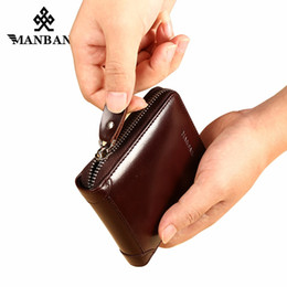 Metal Fines Australia - ManBang New Men's Wallet Genuine Leather Men's Zipper Male Short Coin Purse Pockets Fine Gift For Card Holder High Quality #124980
