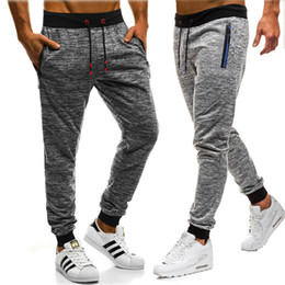 wholesale boys sweatpants UK - Fashion Men Long Casual Sport Pants Gym Slim Fit Handsome Young Boys Trousers Running Joggers Gym Sweatpants Outwear