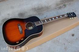 ElEctric guitar shipping box online shopping - J160E inch electric box guitar ballad signature veneer VS JOHN LENNON electric guitar