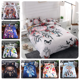 $enCountryForm.capitalKeyWord Australia - Dream catcher Bedding Set Bohemian Print Duvet Cover set with pillowcase 3pcs bedroom home decoration