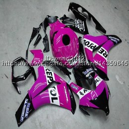 Pink Honda Repsol Cbr NZ - Custom+Screws Injection mold repsol pink motorcycle fairing for HONDA CBR1000RR 2008 2009 2010 2011 CBR 1000 RR motorcycle hull