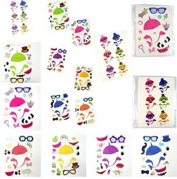 $enCountryForm.capitalKeyWord Australia - New 24pcs lot Baby Shark Sticker Game Party Boy Girl Paster Diy Cartoon Toy Decor cartoon Patterns children room decor car Stickers 4944