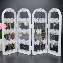 $enCountryForm.capitalKeyWord Australia - Multi-functional Plastic Folding Screen Jewelry Storage Rack Transparent Earrings Necklace Jewelry Display Stand Organizer