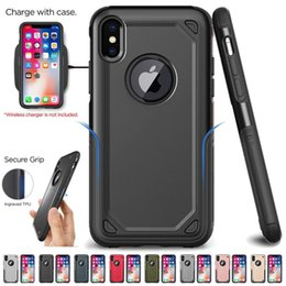Military Shockproof Armor Phone Case For iPhone X Xs XsMax Xr 7 8 6 6s Plus Hybrid PC+TPU Slim Rugged Protective Case Defend Cover