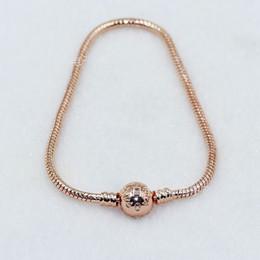Beautiful gold Bracelets online shopping - Beautiful Women K Rose Gold mm Snake Chain Bracelet Fit Pandora Silver Charms European Beads Bracelet DIY Jewelry Making