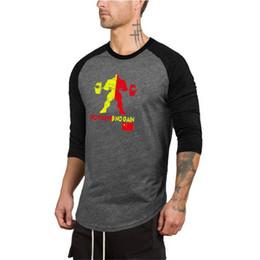Discount cotton spandex t shirt mens - Men Running T Shirt Long Sleeve O Neck T-shirt 100% Cotton Tees Tops Mens Fitness Brand Tshirt Men Gym Clothing