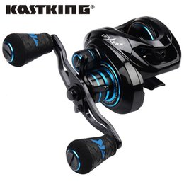 lighting coil UK - KastKing 2019 New Crixus Super Light Baitcasting Fishing Reel Dual Brake System Freshwater 8KG Drag Casting Reel Fishing Coil T191015