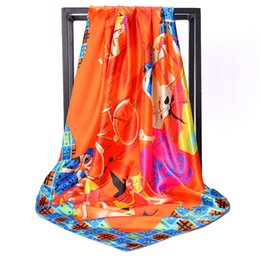 Scarf Shopping Australia - Cross - border source of color printing large square scarves wholesale women's clothing shop match scarves overseas study gifts