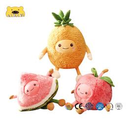 $enCountryForm.capitalKeyWord Australia - 1pc Kawaii Fruit Pillow Watermelon Fruits Soft Plush Cute Stuffed Doll Pillow for Baby Kids Children Girl Gifts Plush