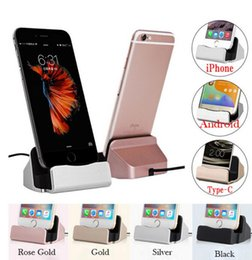 Wholesale Free DHL For iPhone X USB Cable Sync Cradle Charger Base Xiaomi Android Type C Samsung Stand Holder Charging Base Dock Station