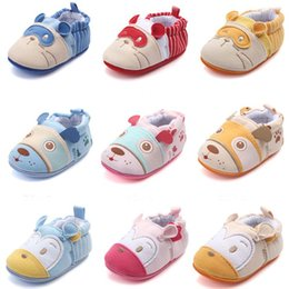 Infant Prewalkers Australia - Fashion Toddler Baby Unisex Shoes Cute Cartoon Animal Loafers Crib First Walkers Newborn Infant Soft Sole Prewalkers Shoes