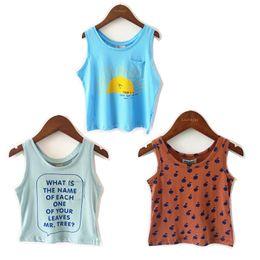 Sleeveless T Shirts For Kids Australia - Bobozone 2019 Bobo New Sleeveless T-shirt For Kids Boys Girls Baby Tee Y190516